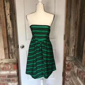 Anthro Moulinette Soeurs Green And Navy Dress